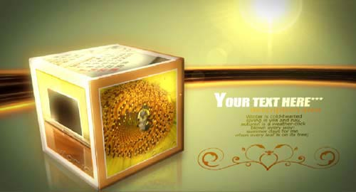 پروژه افتر افکت تبلیغاتی مکعب های چرخان Rolling Cubes After Effects Project