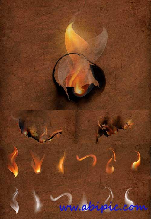 دانلود طرح لایه باز دود و شعله آتش Smoke and Flames