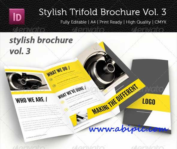 دانلود طرح ایندیزاین بروشور 3 لت شماره 5 Stylish Trifold Brochure Vol