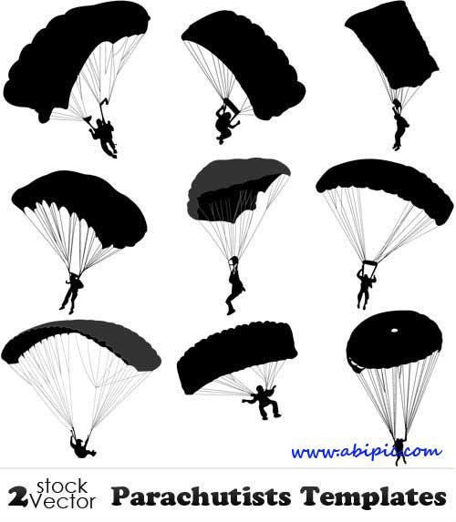 دانلود طرح وکتور چترباز Vectors Parachutists Templates