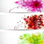 دانلود طرح وکتور بنر شماره 13 Vectors Vivid Flowers Banners