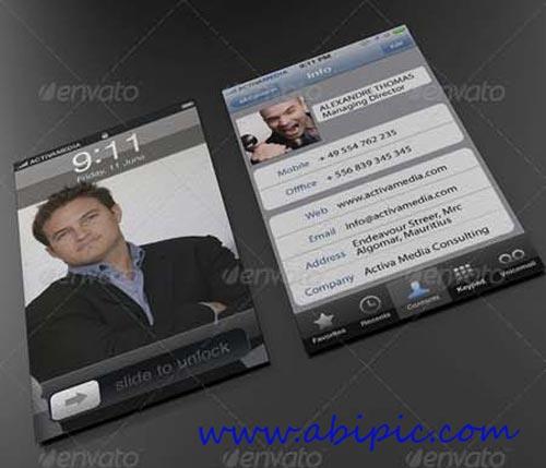 دانلود PSD کارت ویزیت با طرح موبایل Phone Business Card