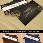 دانلود طرح لایه باز کارت ویزیت شماره 54 با طرح گلدار corporate bussines card