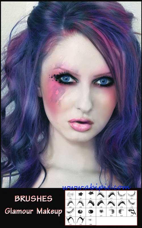 دانلود براش آرایش و گریم فتوشاپ Brushes - Glamorous Makeover