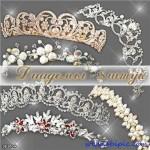 دانلود طرح لایه باز 8 تاج عروس شماره 2 PSD clipart – Tiaras