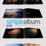 دانلود طرح لایه باز آلبوم 12 صفحه ای برای نمایش نمونه کارهای عکاسان