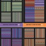 دانلود وکتور پترن های سنتی راه راه و خطی Abstract strip pattern ethnic vector