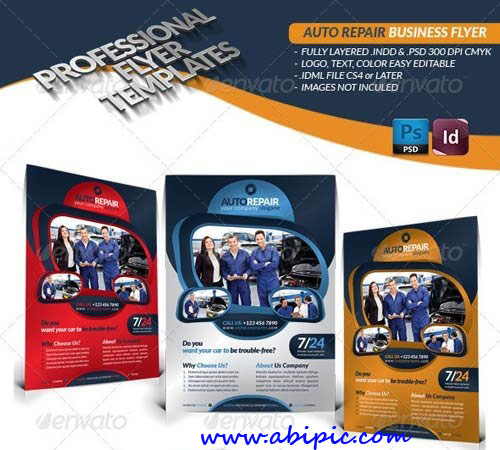 دانلود پوستر تبلیغاتی آماده برای تعمیرگاه ماشین Auto Repair Business Flyer