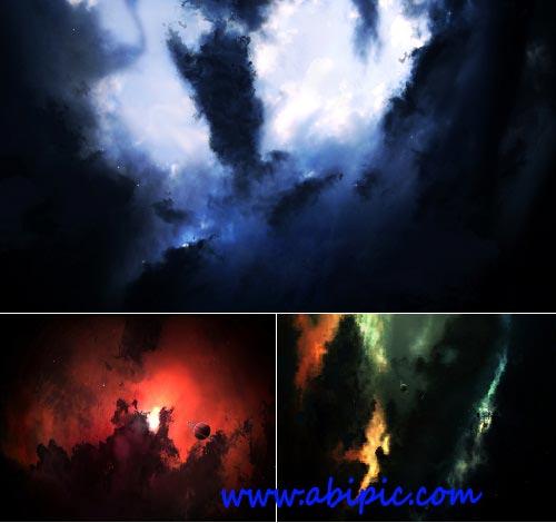 دانلود بک گراند لایه باز با طرح سحابی GraphicRiver Nebula Pack