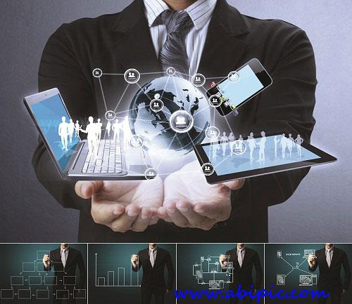 دانلود 5 عکس استوک تکنولوژی و کسب و کار Business technology