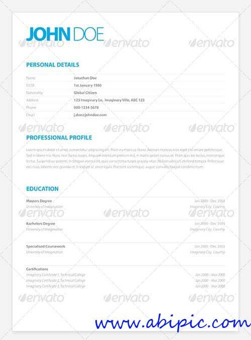 دانلود طرح ایندیزاین روزمه شماره 5 Clean Elegant Resume