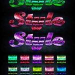 دانلود استایل زیبای فتوشاپ با طرح رنگین کمانی Colored Iridescence Styles