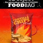 دانلود طرح mock-up بسته بندی مواد غذایی و چیپس 3d Food Bag Mock-up