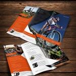 دانلود طرح ایندیزاین بروشور 3 لت مناسب برای معرفی فعالیت ها و لوازم ورزشی