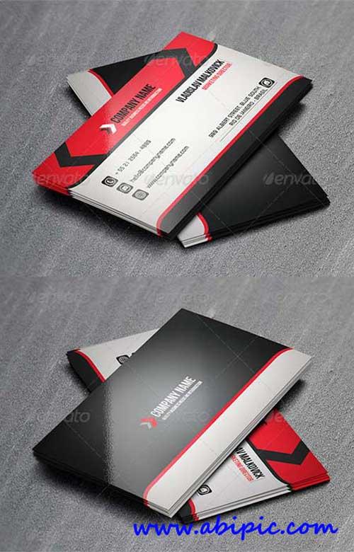 دانلود طرح لایه باز کارت ویزیت شرکتی GraphicRiver Corporate Business Card