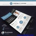 دانلود طرح لایه باز پوستر شرکتی Corporate Commerce Flyer Template A4