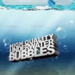 دانلود طرح لایه باز حباب زیر آب با کیفیت بالا GraphicRiver HQ Underwater Bubbles