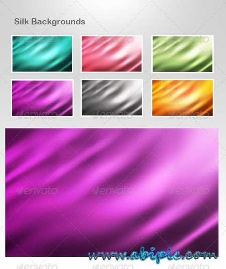 دانلود بک گراند لایه باز فتوشاپ با طرح ابریشم Silk Backgrounds