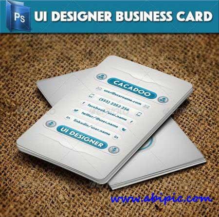 دانلود طرح لایه باز کارت ویزیت شماره 62 UI Designer Business Card