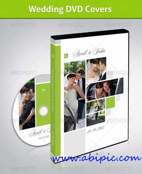 دانلد طرح لایه باز کاور و لیبل DvD عروسی شماره 6 Wedding DVD Covers