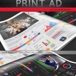 دانلود طرح لایه باز پوستر تبلیغاتی اینفوگرافیک Infographic Print Ad Template