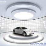 دانلود طرح لایه باز تبلیغ  نمایشگاه ماشین PSD Sources Best Auto Exhibition Hall
