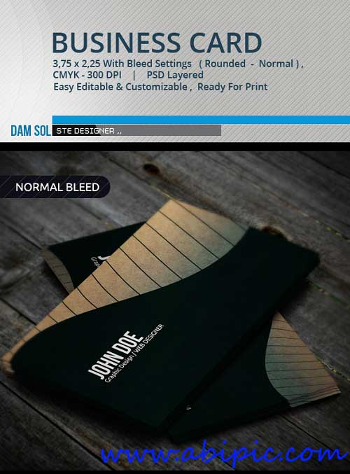 دانلود  طرح لایه باز کارت ویزیت خلاقانه GraphicRiver Creative Business Card