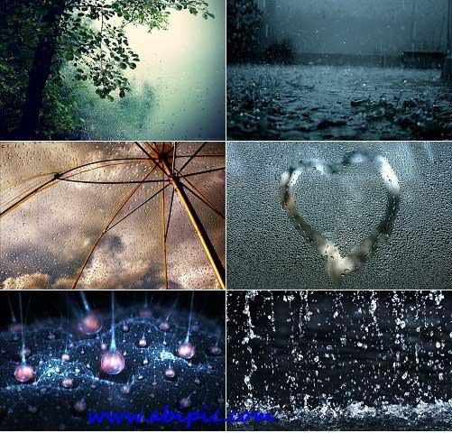 دانلود عکس های با کیفیت بارش باران Rain Stock Photo