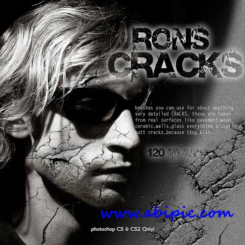 دانلود براش ترک خوردگی فتوشاپ شماره 3 Photoshop Brushes Rons Cracks