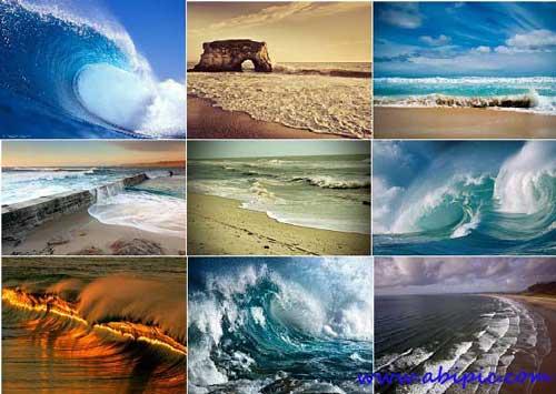 دانلود تصاویر با کیفیت و والپیپرهای زیبا از امواج دریا Sea waves