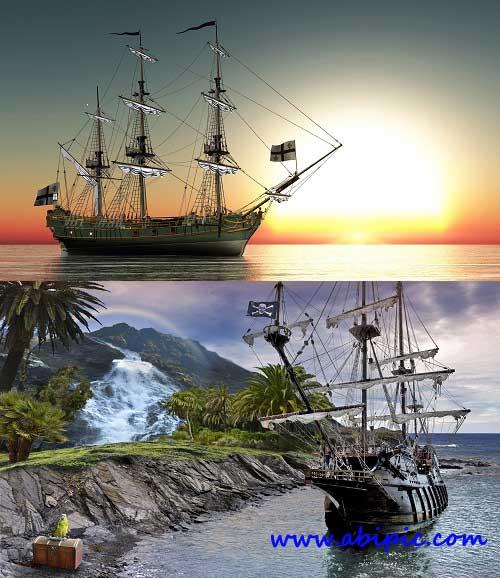 دانلود تصاویر استوک کشتی های بادبانی Sailing vessels Stock Photo