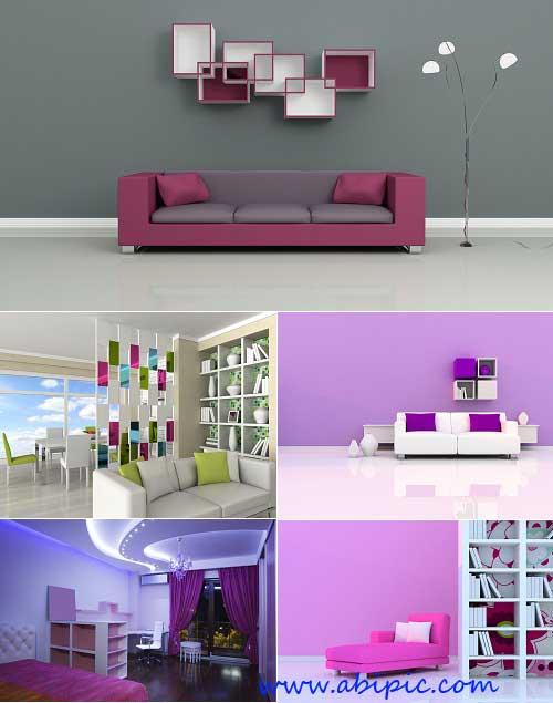 دانلود تصاویر شاتر استوک طراحی و دکوراسیون داخلی با تن رنگ صورتی