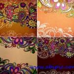 دانلود بک گراند ها و نقش و نگارهای سنتی Indian designs on paper