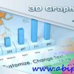 پروژه افترافکت نمودارهای آماری و دیاگرام ها 3D Graphs Pack After Effects Project