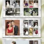 دانلود طرح ایندیزاین آلبوم 40 صفحه ای کلاسیک عروس و داماد