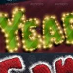دانلود اکشن افکت متن مخصوص کریسمس Christmas Actions