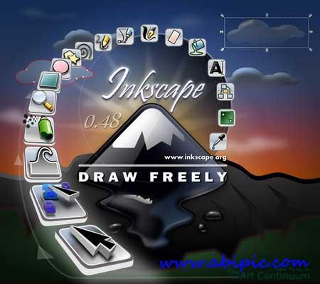 دانلود نرم افزار ویرایشگر وکتور Inkscape 0.48.4