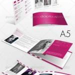 دانلود طرح آماده کاتالوگ ایندیزاین A5 Clean and Effective InDesing Catalog