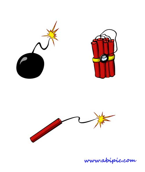 دانلود وکتور و طرح لایه باز بمب و دینامیت Bombs PSD , Vector