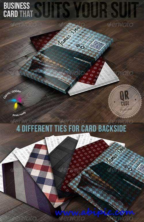 دانلود طرح لایه باز با طرح کت و شلوار Business Card That Suits Your Suit