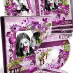 دانلود کاور و لیبل CD و DVD صورتی و رمانتیک  purple romantic DVD Cover