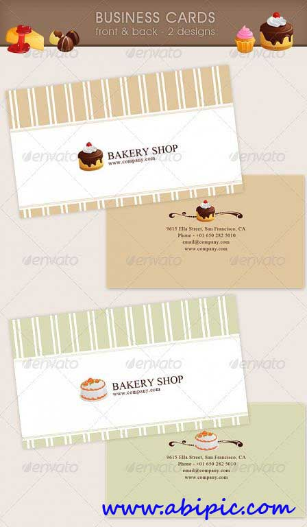دانلود طرح لایه باز کارت ویزیت قنادی GraphicRiver - Bakery Business Card