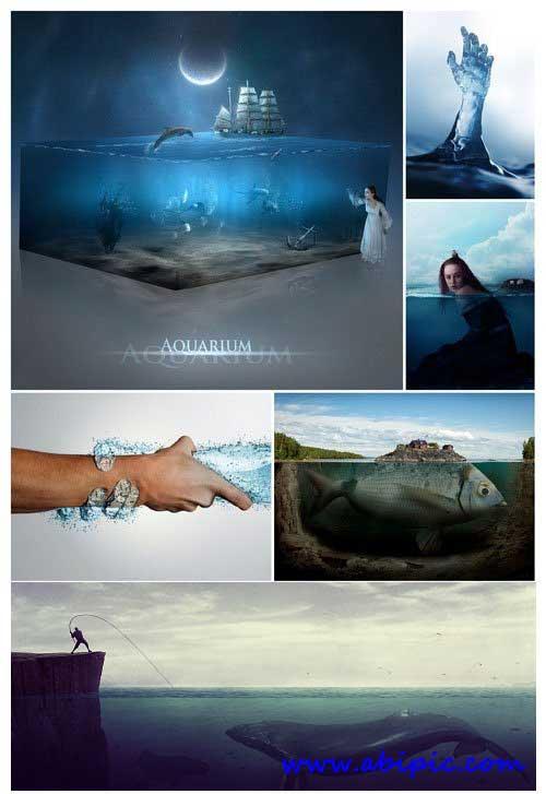دانلود تصاویر ترکیبی و فتوشاپی شده آب Masters Photomanipulation Water