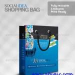 دانلود وکتور کیف خرید با طرح شبکه های اجتماعی