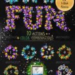 دانلود ابزارهای فتوشاپ طرح های با افکت ستاره