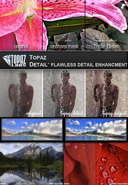 دانلود پلاگین رنگبندی، دقت و نور پردازی در فتوشاپ Topaz Detail 3.0.0