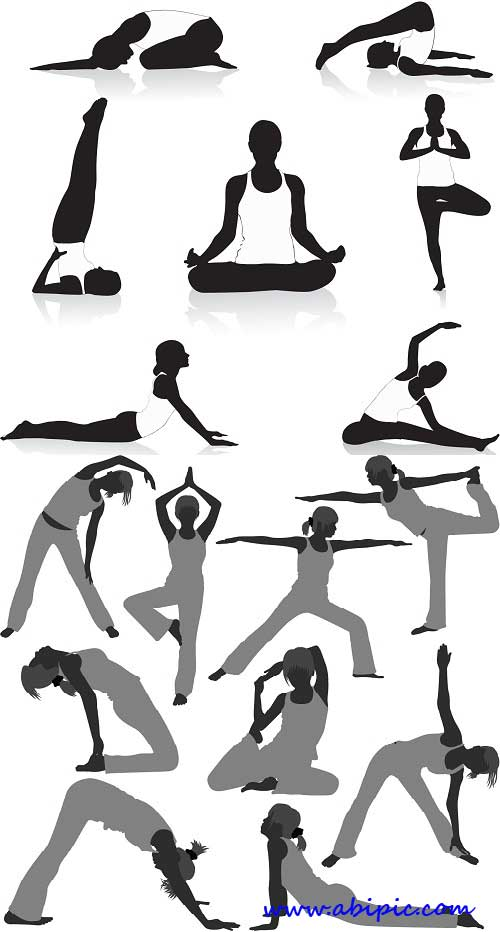 دانلود طرح وکتور یوگا vectors yoga mix