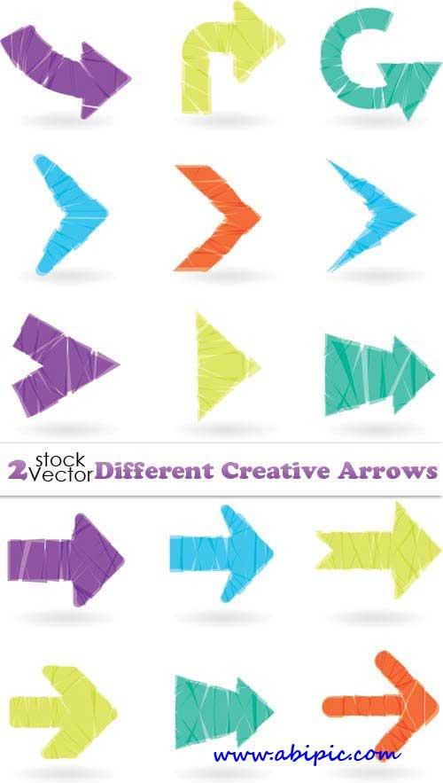 دانلود وکتور فلش و پیکان شماره 2 Vectors Different Creative Arrows