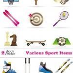 دانلود وکتور لوازم ورزشی Vectors – Various Sport Items