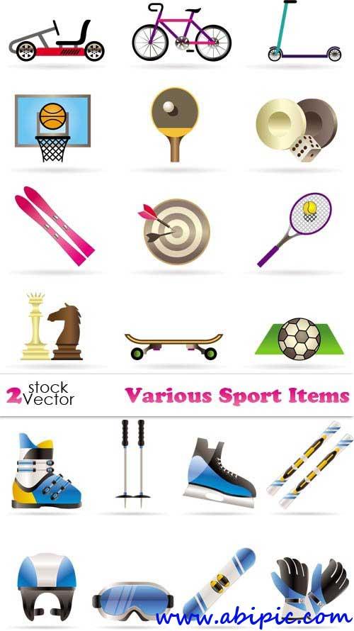 دانلود وکتور لوازم ورزشی Vectors - Various Sport Items